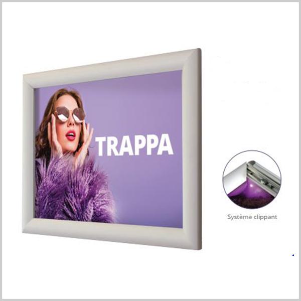 cadre clippant est un système d'affichage simple et pratique. Lorsque vous souhaitez changer de contenu régulièrement, les cadres clippants sont la solution idéale.