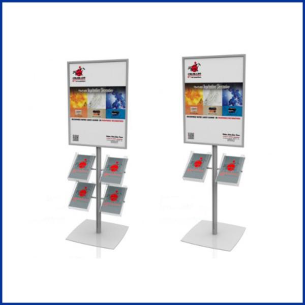 EXCELLIO PREMIUMest un combiné porte-affiches / porte-documentations, équipé d'un cadre clipant 60 cm / 80 cm et de 2 porte-brochures en plexiglass.