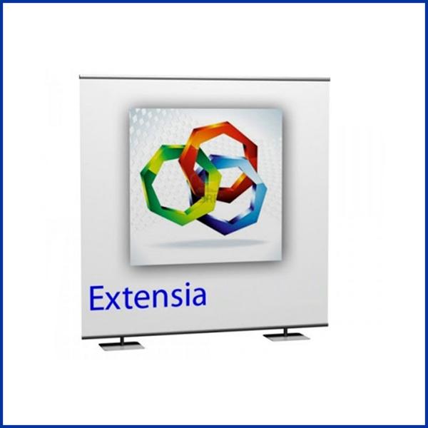 Extensia peut être utilisé comme fond de stand, comme mur d'image ou encore comme photo call. Utilisations multiples et variées
