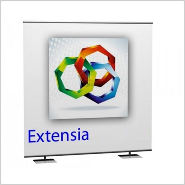 Extensia peut être utilisé comme fond de stand, comme mur d'image ou encore comme photo call. Découvrez le mur d'image Extensia.
