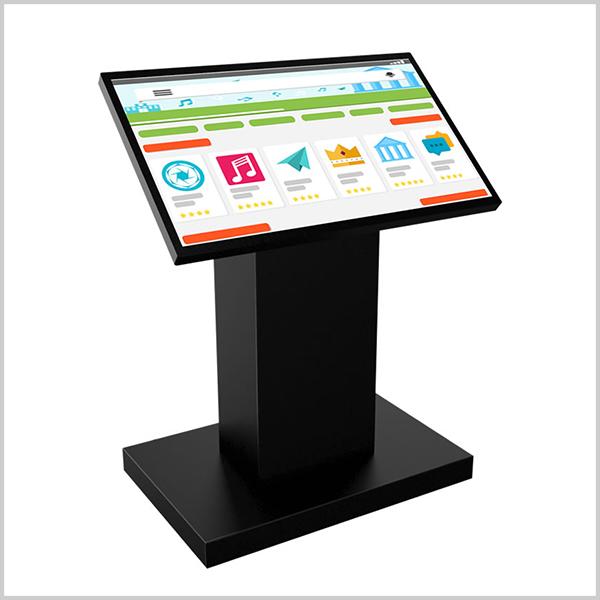 Screen 32 pouces est borne tactile composée d'un large écran 32'' (81cm) 16/9 professionnel haute-définition équipé de la technologie tactile capacitive.