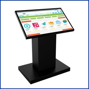 Screen 32 pouces est borne tactile composée d'un large écran 32'' (81cm) 16/9 professionnel haute-définition équipé de la technologie tactile.