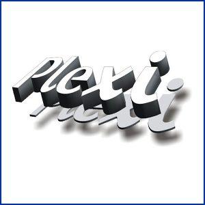 Lettrage volume avec plexi s'adapte très bien à la découpe de mots, de phrases ou d'un slogan qui peux être utilisé dans de nombreux contextes.