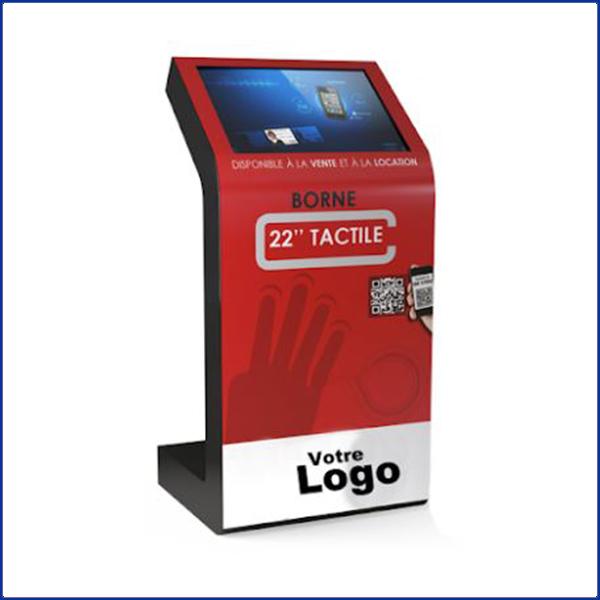 I-Screen est une borne tactile 22 pouces est un grand classique. Un design simple et efficace s'intégrant dans tous les points de vente.